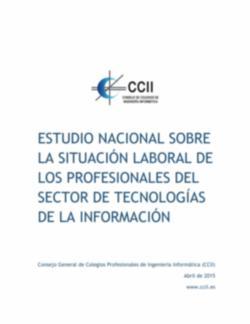 Estudio Nacional sobre la Situación Laboral de los Profesionales del Sector TI